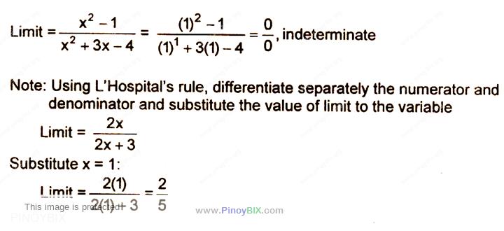 Solution: Evaluate:   lim┬(x→1)〖(x^2- 1)/(x^2+3x-4)〗