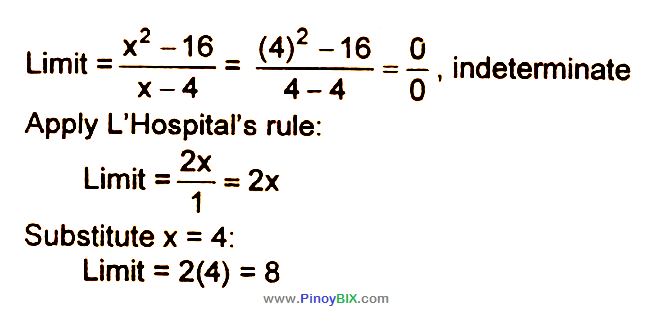 Solution: Evaluate:   lim┬(x→4)〖(x^2- 16)/(x-4)〗