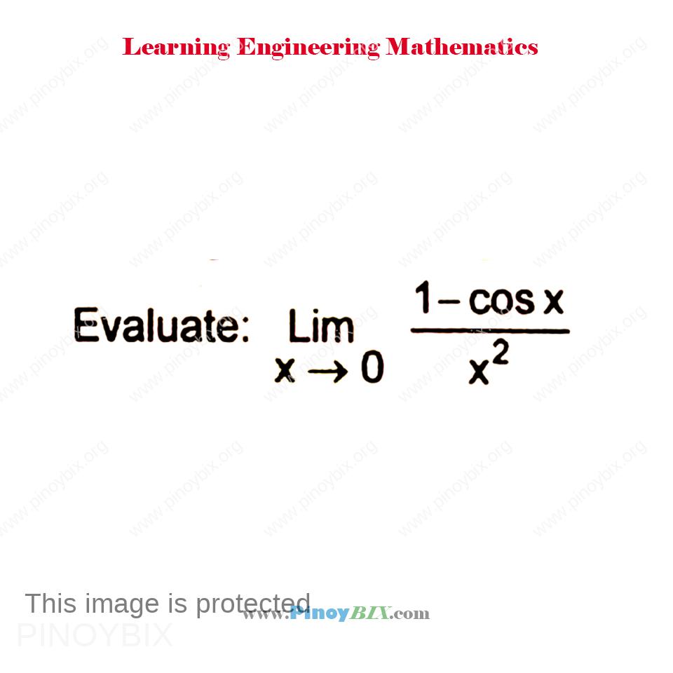 Evaluate: lim┬(x→0)〖(1-cosx)/x^2 〗