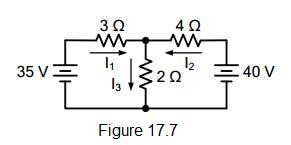 electrical circuit figure 17.7
