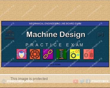 MCQ in Machine Design Part 8 | ME Board Exam